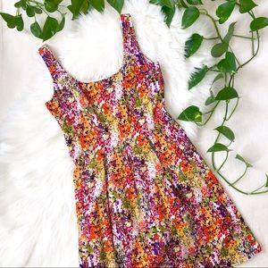 Nine West Floral Bloom Fit & Flare Dress w/Pockets